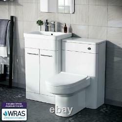 500mm White Vanity Cabinet Avec Wc Unit Et Btw Back To Wall Toilet Amie