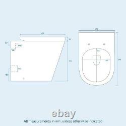 550 MM Basin Vanity Sink Armoire & Back To Wall Wc Toilet Combined Suite