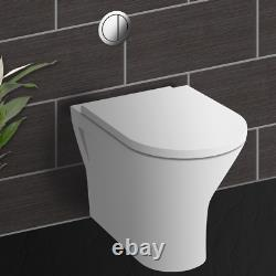 550mm Cloakroom Suite Vanity Unit Basin Rak Retour Au Mur Cistern De Toilette Rimless
