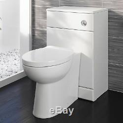 600 / 300mm Wc Unité Blanc Brillant Salle De Bains Vanity Vestiaire Retour À Wall Meubles