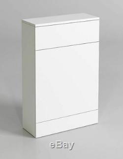 600 / 330mm Wc Unité De Bains Vestiaire Vanity Retour À Wall Meubles Blanc Brillant