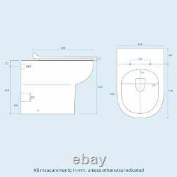 600 MM Basin Light Grey Vanity Cabinet & Back To Wall Wc Toilet Suite Nanuya
