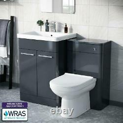 600mm Anarthrite Vanity Basin Cabinet Avec Wc Retour À L'unité De Toilette Murale Amie