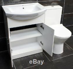 650mm Unité Vanity + Rimless Toilettes Option Bassin Évier Salle De Bains Suite Set + Tap