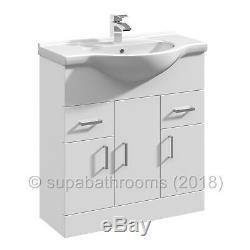 750mm Meuble Sous Lavabo Bassin Évier Retour À Wall Linton Toilettes Bathroom Furniture Suite