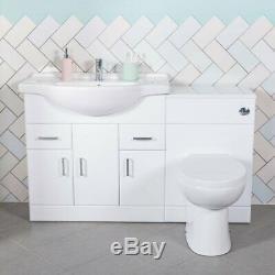 850mm Absolute Vanity Unit & 500mm Retour À Wall Toilettes Unité Avec Toilettes Et Bassin