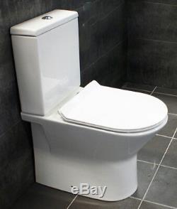 850mm Unité Vanity + Rimless Toilettes Option Bassin Évier Salle De Bains Suite Set + Tap
