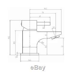 900mm Combinaison Vanity & Toilette Avec Retour À Wall Pan & Seat Blanc Moderne