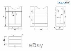 Absolute 550mm Vanity Unit & 500mm Retour À Mur Unité De Toilette Avec Wc Et Bassin