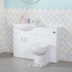 Absolute 650mm Vanity Unit & 500mm Retour À Mur Unité De Toilette Avec Wc Et Bassin