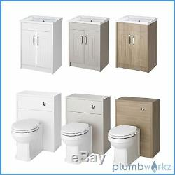 Armoire De Toilette Et Bac De Lavabo Btw De Style Traditionnel, Dos Au Mur