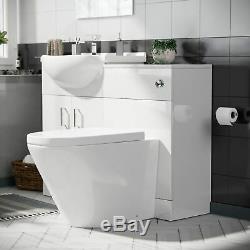 Basin Sink Vanity Cabinet Et Retour À Wc Mur Toilettes Salle De Bains Suite Laguna Set