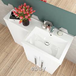 Bassin De Vanité De Salle De Bain Blanche Moderne Retour Au Mur De Toilette Meuble À Citerne Gratuit