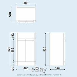 Bassin Évier Blanc Vanity Unit Cabinet Et Retour À Wall Toilettes Salle De Bains Lorey
