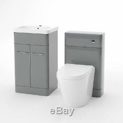 Bassin Évier Gris Vanity Unité Cabinet Et Retour À Wc Suite Mur Toilettes Torex
