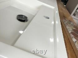 Bathroom Furniture Foncé Finition Noyer Inline Lavabo Et Wc Unité Combo