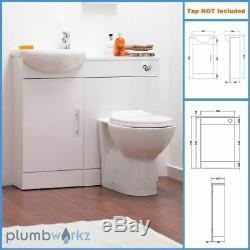 Bathroom Furniture Suite Vanity Meuble De Rangement Wc Bassin Toilettes Unité Dos Au Mur