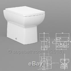 Bathroom Vanity Retour À L'unité Murale, Wc Pan, Et Siège Cistern, Toutes Les Tailles