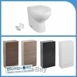 Bathroom Vanity Retour À Wc Unité Murale Btw Toilettes Pan & Soft Fermer Cistern Siège