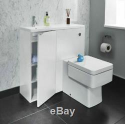 Bathstore Vanity Cabinet Unités Myplan Évier Bassin Miroir Blanc Brillant Toutes Les Tailles