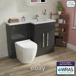 Bella Salle De Bain Wc Retour Au Mur Gris Toilettes Bassin Unité Vanity Meubles Rh 1100mm