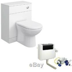Blanc Bathroom Furniture Retour À Wall Pan Unit & Cistern Paquet