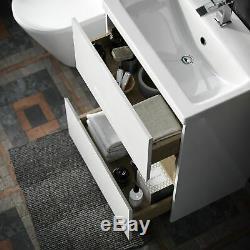 Blanc Moderne 610 MM Vanity Cabinet Et Wc Retour Au Mur Toilettes Unité Avec Cisten