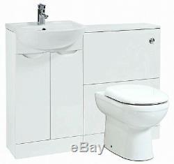 Blanc Retour À Wall Suite 1040x 250x870 Salle De Bains Vanity-p Rangement Fu091