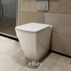 Canova Btw Rimless Retour Au Wc Mur Pan Avec Fermer Slim Doux Siège De Toilette Place
