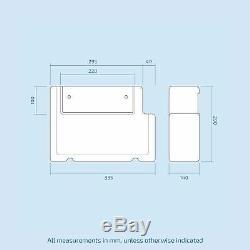Collecteur 900mm Main Droite Salle De Bains Vanity Gris Bassin Dos Au Mur Toilettes