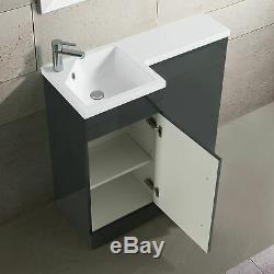 Collecteur 900mm Salle De Bains Main Gauche Gris Vanity Basin Dos Au Mur Toilettes