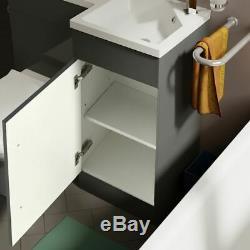 Collecteur De Bain Rh Blanc Bassin Évier Wc Lavabo Unité Retour Au Mur Toilettes 900mm