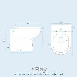 Collecteur Salle De Bains Gris Clair Évier Lavabo Vanité Unité Ri Toilettes Toilettes