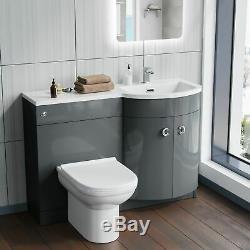 Collecteur Salle De Bains Gris Évier Meuble Sous Lavabo Back To Wall Wc Toilette Rh 1100mm