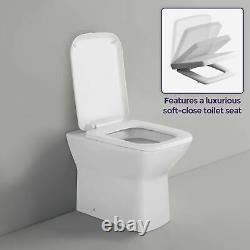Damion Rh Gris Brillant Salle De Bains Wc Bassin Meuble Sous Lavabo Retour Au Mur Toilettes 1100mm