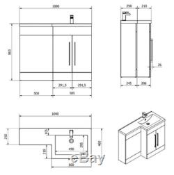 Designer Bathroom Furniture Suite Vanity Unit Retour À Wc Mur Wc, Lavabo Bassin