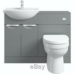Designer Gaucher Salle De Bains Unité Vanité Avec Lavabo + Dos Au Mur Toilettes 1100m