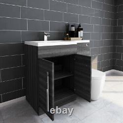 Designer Lh Combinaison De Bain Meuble Sous Lavabo Avec Bassin Dos Au Mur Toilettes