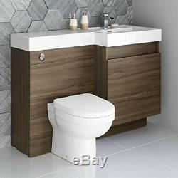 Designer Noyer Salle De Bains Retour Au Mur Toilettes Unité Avec Worktop