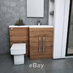 Designer Rh Noyer Combi Salle De Bain Meuble Sous Lavabo Avec Lavabo + Dos Au Mur Toilettes