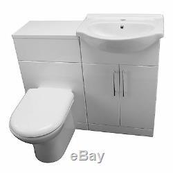 Douche Baignoire Suite P Forme Meuble Sous Lavabo Bassin Évier Retour Au Mur Blanc Taps Toilettes