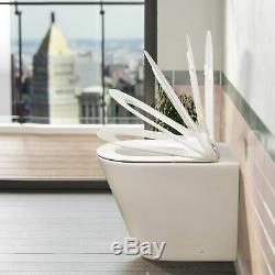 Elen 900mm Salle De Bains Blanc Bassin Meuble Sous Lavabo Retour Au Wc Mur Rimless Toilettes Rh