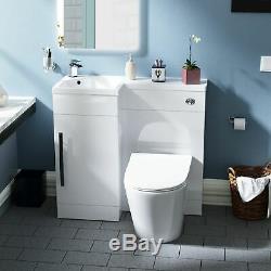 Ellis 900mm Salle De Bain Evier Meuble Sous Lavabo Rimless Retour Au Wc Mur Toilettes Lh