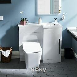 Elora 900mm Salle De Bains Lavabo Blanc Meuble Lavabo Sans Rebord Wc Toilette Rh