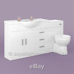 Évier De Bassin De L'unité De Courtoisie 1050mm Retour Au Mur Suite De Meubles De Salle De Bain De Toilette De Laura