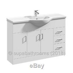 Évier De Lavabo D'unité De Lavabo De 1200mm Retour Au Mur Suite De Meubles De Salle De Bain Pour Toilettes Laura