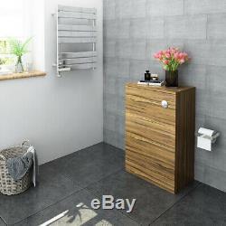 Floorstanding Retour Au Mur Salle De Bains Wc Walunt Vanity / Unité Chêne-couleur Toilette