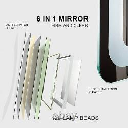 Getpro Salle De Bains Led Vanity Mirror, 24x16 Pouces Frameless Wall-mounted Makeup Back