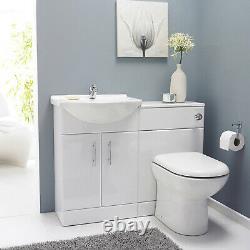 Gloss White Furniture Vestiaire Pack, Vanity Basin Cabinet, Wc Unité, Toilettes Pan