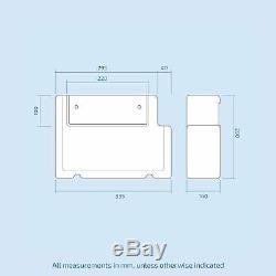 Ingersly 900 MM Main Gauche Salle De Bain Bassin Blanc Vanity Retour Au Wc Mur Toilettes